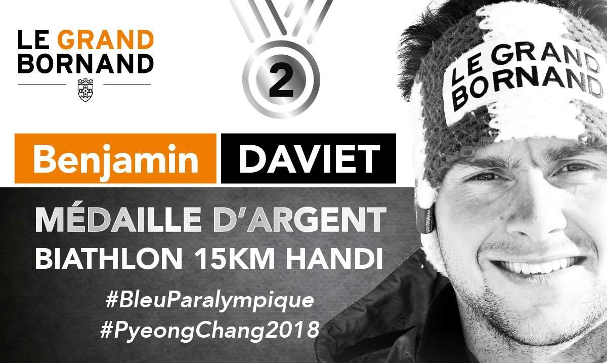 JO 2018 Argent Biathlon 15km